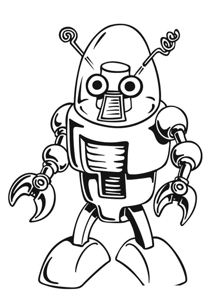 Раскраска Робот с Марса распечатать или скачать бесплатно