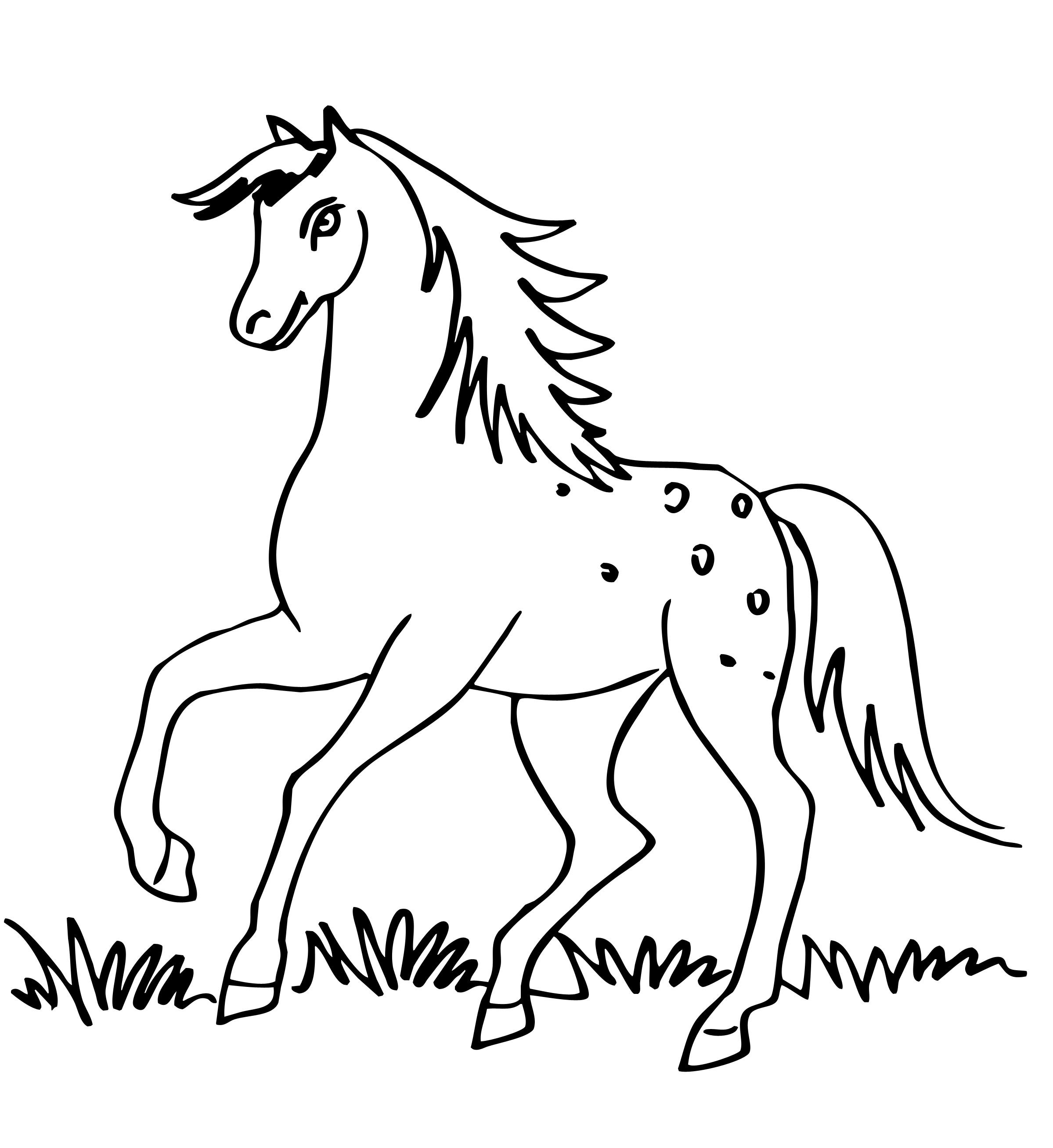 рисунки лошадки для разрисовывания объясниться человеком